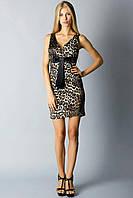 Вечернее платье леопардовый принт