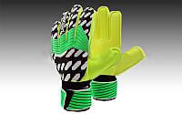 Рукавиці воротарські з захисними вставками на пальці FB-872-2 PREDATOR (PVC, р-р 7-9, салатовий-чорний-білий)