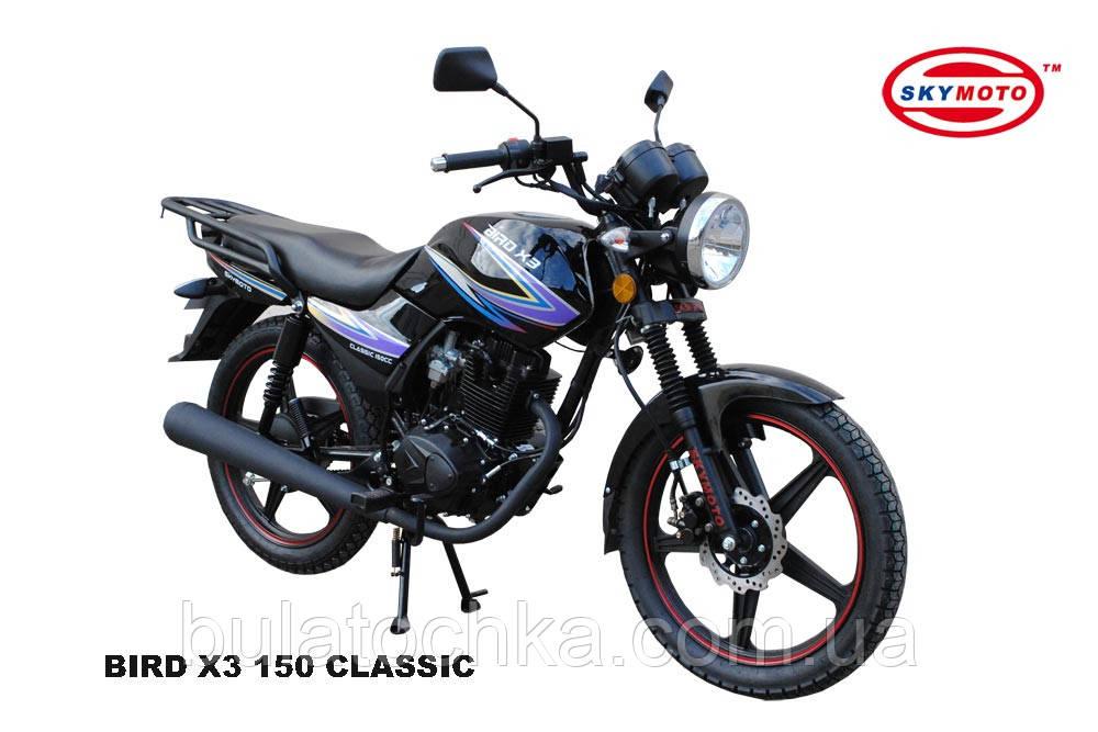 Мотоцикл BIRD X3 150 (CLASSIC) Скай мото     - BULATOCHKA маркетплейс, WEIMA официальный сайт, трактора BULAT, Мотор Сич, навесное AGROMARKA в Харькове