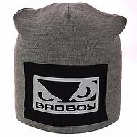 Вязаная спортивная мужская шапка