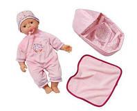 Малыш Пупс Baby Born Zapf Creation с переноской, одеялом и соской 820322