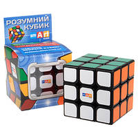 Умный кубик 3х3 чёрный (Smart cube) со срезанием углов без инструкции