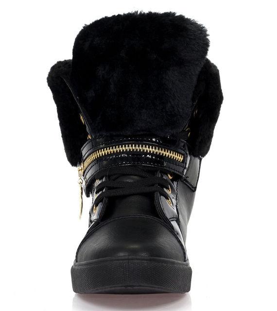 Зимние ботинки из эко кожи