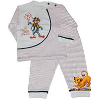 """Уютная детская пижама """"Веселый Клоун"""" , коттоновая , для деток на 1 годик"""