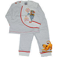 """Уютная детская пижама """"Веселый Клоун"""" , коттоновая , для детей на 1 годик"""