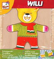 Пазлы гардероб медвежонка Bino