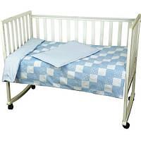 Детское постельное белье Руно Клеточка голубое (932Клеточка_Голубой)