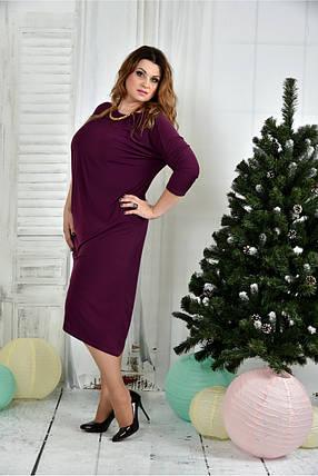 Женское вечернее платье 0387 цвет фиолетовый размер 42-74 / батальное, фото 2