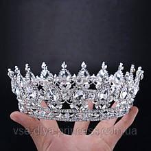 Круглая корона, диадема, тиара, высота 5,5 см.