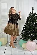 Женское нарядное вечернее платье 0386 цвет горчица размер 42-74 / батальное, фото 3