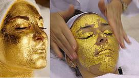 Золотая маска для лица Demax OR Beauty leaf 9,5*9,5 5 шт