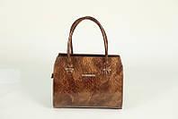 Женская каркасная коричневая сумочка М50-241-1