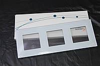 Панель 3 сокета закаленное стекло