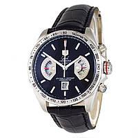 Часы хронограф TAG Heuer - Carrera Caliber 36 цвет корпуса серебристый, кожаный ремешок