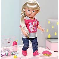 Красивая кукла BABY BORN - Старшая сестренка 43 см, с аксессуарами 820704
