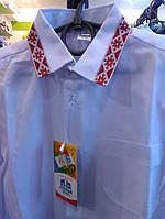 Рубашка с вышиванкой хлопок  116-146, фото 1