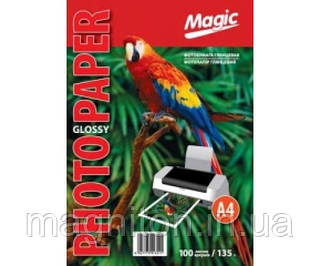 Фотобумага Magic A4 Глянцевая 135г. (100листов)