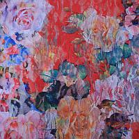 Ткань Гипюр Цветы 4
