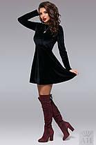 А1283 Платье бархатное клеш, фото 2