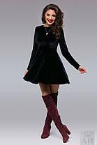 А1283 Платье бархатное клеш, фото 3