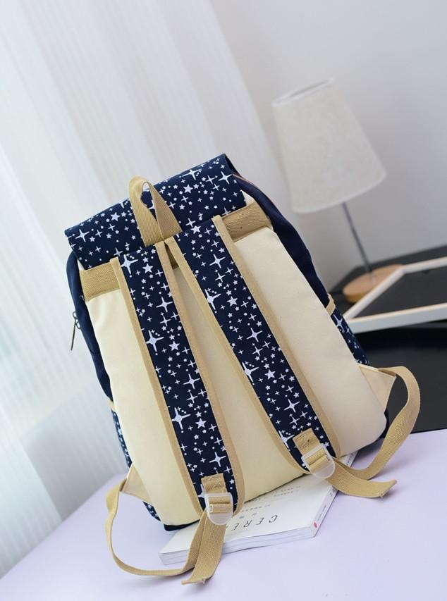 рюкзак для девочки в звездочках