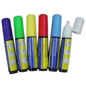 Маркеры для Led доски. Толщина кисти 8мм. В упак: 6шт. (разноцветные).