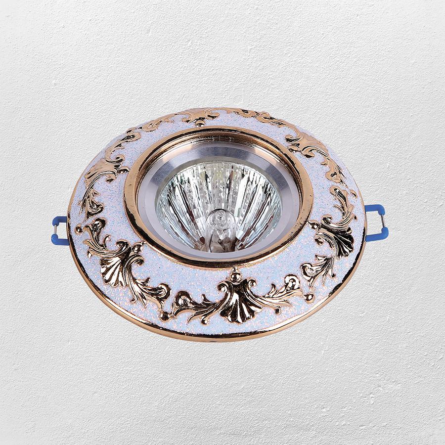 Точечный врезной светильник (модель 47-1005 ЗОЛОТО)