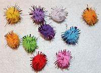 """Помпоны разноцветные """"ёжики"""" код 709 упаковка 10 шт., фото 1"""