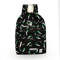 Модный молодежный рюкзак с крутыми принтами