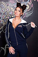 Женский комфортный теплый спортивный костюм