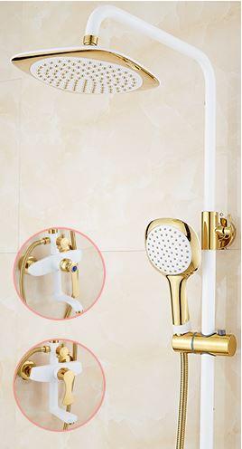 Стойка колона в ванную с верхнем душем