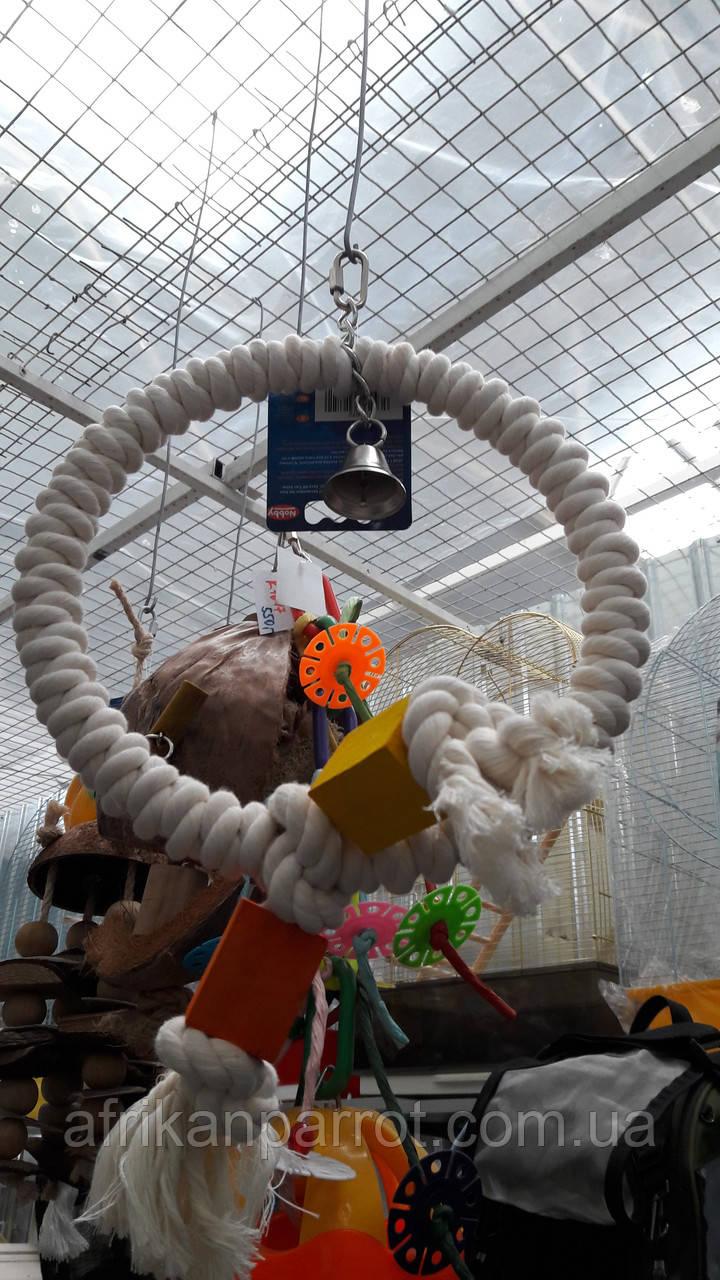 Кольцо с колокольчиком и кубиками дерева для попугая (Nobby)