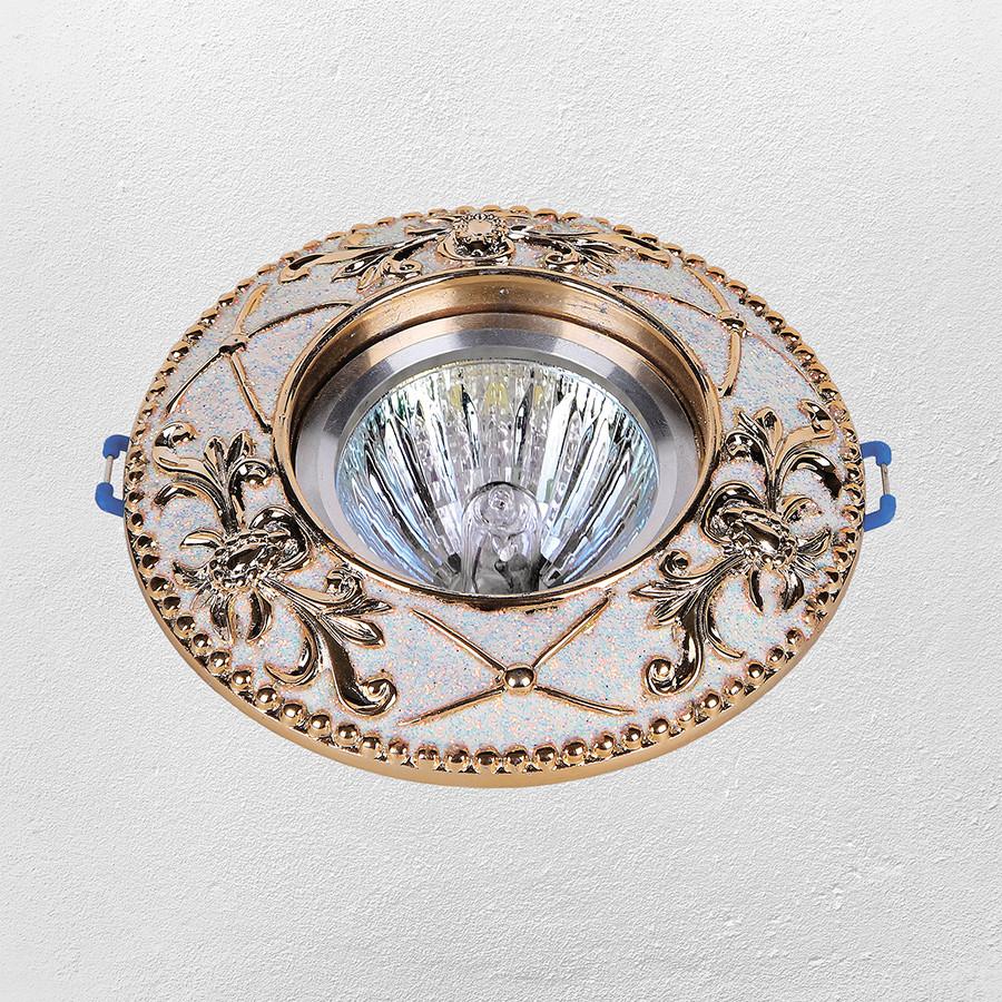 Точечный врезной светильник (модель 47-1027 золото)