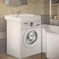 Умывальник над стиральной машиной – идеальное решение для маленьких ванных комнат