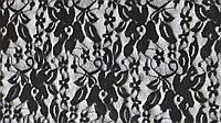 Ткань Гипюр Черный 2