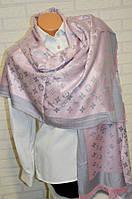 Шарф палантин Louis Vuitton (Луи Витон) серо-розовый