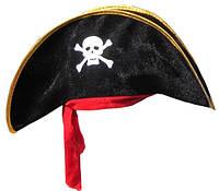 Шляпа Пирата с красной повязкой