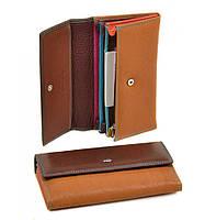 Женский кожаный кошелек, клатч, портмоне Dr Bond. Из натуральной кожи. Цвет кофе