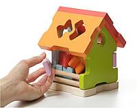 Дерев'яна іграшка Сортер Будиночок LS-1 TM Cubika (11599)