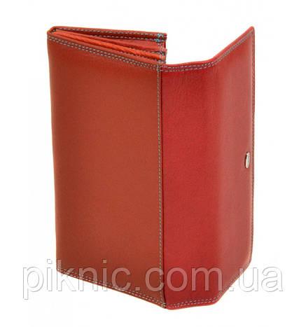 Женский кожаный кошелек, клатч, портмоне Dr Bond. Из натуральной кожи. Цвет красный, фото 2