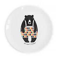 """Тарелка дизайнерская """"Медведь"""""""
