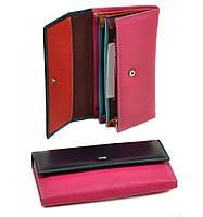 Женский кожаный кошелек, клатч, портмоне Dr Bond. Из натуральной кожи. Цвет фиолет