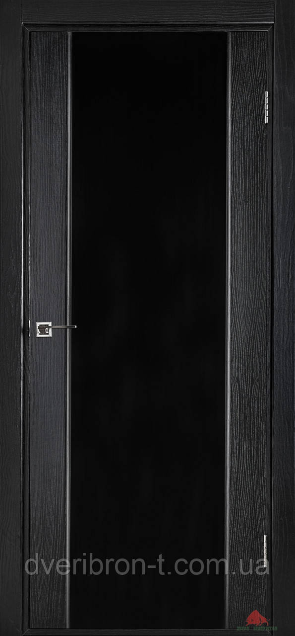 Двери Белоруссии Соня чёрный ясень, стекло триплекс