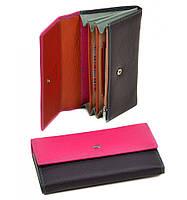 Женский кожаный кошелек, клатч, портмоне Dr Bond. Из натуральной кожи. Цвет розовый
