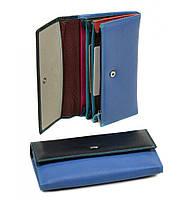 Женский кожаный кошелек, клатч, портмоне Dr Bond. Из натуральной кожи. Цвет синий