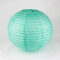 Бумажный подвесной фонарик, мятный, 25 см