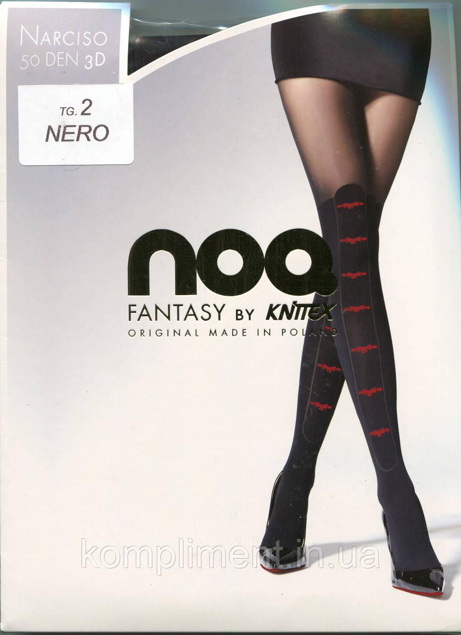 Фантазийные колготки с имитацией чулка KNITEX NARCISO 50 DEN