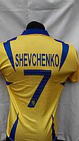 Футбольная форма Украина Shevchenko детская подростковая  желто-синяя
