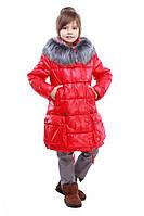 Зимнее теплое детское пальто на девочку.