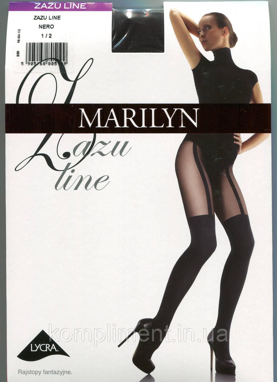 Колготки с имитацией чулка MARILYN ZAZU LINE 60 DEN